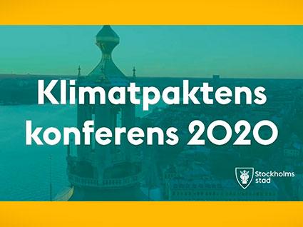 Älskade stad som referensprojekt under Klimatpaktskonferens 2020